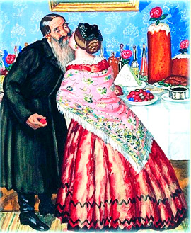 "B.Kustodiev. ""The kiss"""