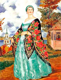"B.Kustodiev. ""Merchant's wife"""