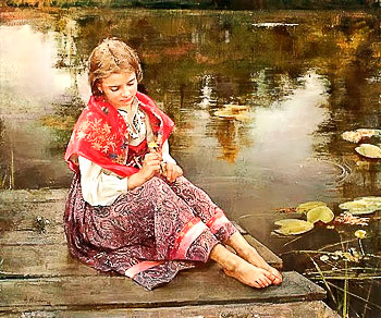 "N.Miloshevich   ""At the pond"""